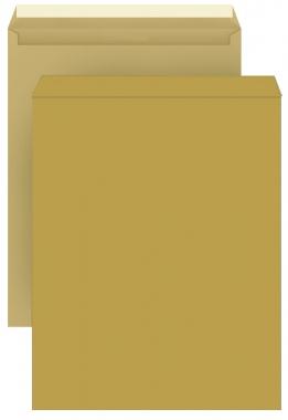 DIN C4 Versandtaschen, natron/braun, ohne Fenster, HK, 110g/qm
