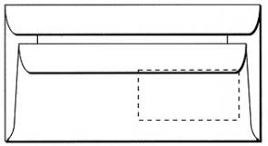 DIN LANG, weiß, mit Fenster, Selbstklebung, 75g/qm