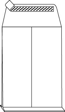 DIN B4 Seitenfaltentaschen mit 4 cm Falte (Klotzboden), weiß, ohne Fenster, HK, 140g/qm