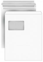 DIN C4 Versandtaschen, weiß, mit Fenster, SK, 90g/qm