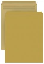 DIN C4 Versandtaschen, natron/braun, ohne Fenster, SK, 90g/qm