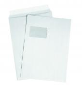 DIN C4 Versandtaschen, weiß, mit Fenster, HK, 120g/qm