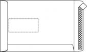 DIN C5 Versandtaschen, weiß, mit Fenster, HK, 90g/qm