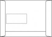 DIN C5 Versandtaschen, weiß, mit Fenster, SK, 90g/qm