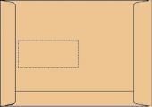 DIN C5 Versandtaschen, natron/braun, mit Fenster, SK, 90g/qm