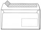 DIN LANG Premium, hochweiss, mit Fenster, HK, 80g/qm